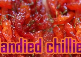 Candied chillies